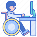 disabled, employee, worker icon