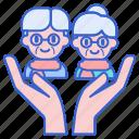 care, eldercare, elderly icon