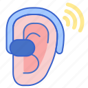 aid, digital, hearing icon