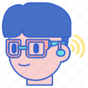 aid, glasses, hearing icon