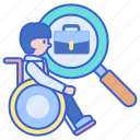 disabilities, job, seeker icon