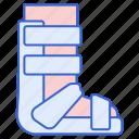 leg, splint, brace icon