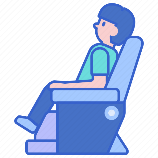 chair, massage, relaxing icon