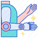 arm, fake, prosthetic icon