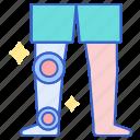 leg, prosthetic, fake icon