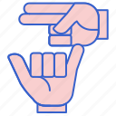 language, sign, asl icon