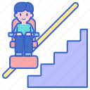 lift, stair, wheelchair icon