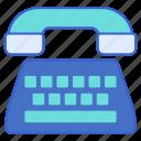 phone, telephone, typewriter icon