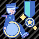 veteran, wheelchair, disabled icon