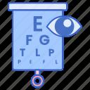 test, visual, exam, eye icon
