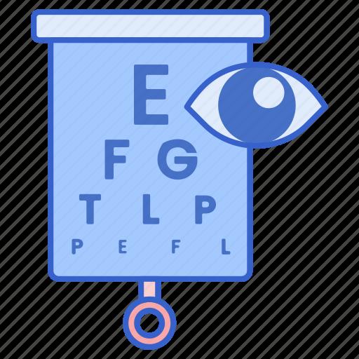 exam, eye, test, visual icon