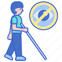 blind, impaired, visually icon