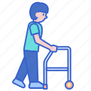 frame, mobility, walker, walking icon