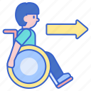 accessible, friendly, wheelchair icon
