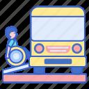 accessible, bus, wheelchair icon