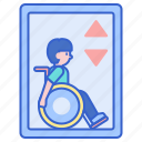 elevator, lift, wheelchair icon