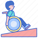 ramp, slope, wheelchair icon