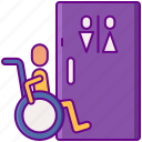 bathroom, disabled, toilet, wheelchair