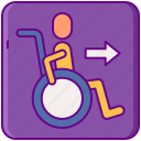 accessible, disabled, wheelchair icon
