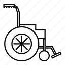 chair, disabled, hospital, line, outline, wheel, wheelchair icon