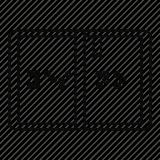 alphabet, blind, braille, dot, letter, line, outline icon