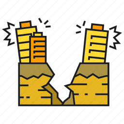 calamity, catastrophe, damage, disaster, earthquake, landslide, tower icon