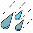 drop, hail, hailstone, rain, storm, thunderstorm icon