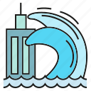 calamity, catastrophe, disaster, disturbance, sea, tsunami, wave icon