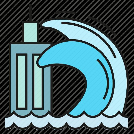 calamity, catastrophe, disaster, disturbance, sea, tsunami, wave icon