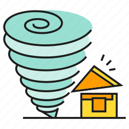 calamity, catastrophe, disaster, house, storm, tornado, wind icon