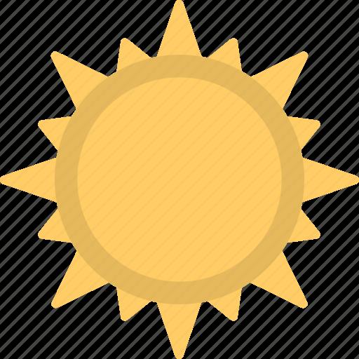 Planet, sun, sunny, sunshine, weather symbol icon
