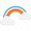 majestic clouds, rainbow, rainbow clouds, rainbow in clouds, weather icon