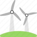 ecology, power convertor, wind farm, wind pump, windmill icon