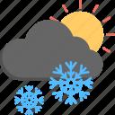 snowfall, snowfall sunrise, weather, winter scene, winter weather
