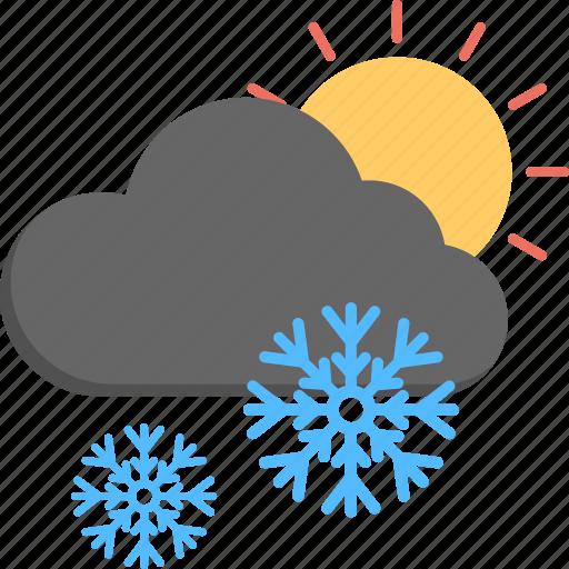 snowfall, snowfall sunrise, weather, winter scene, winter weather icon