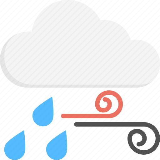 cold weather, rain storm, rain with winds, weather forecast, weather update icon