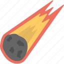 asteroid, asteroid flying, burning asteroid, falling asteroid, minor planet icon