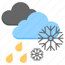cold weather, rain snow, sleeting rain, weather, wintertime icon