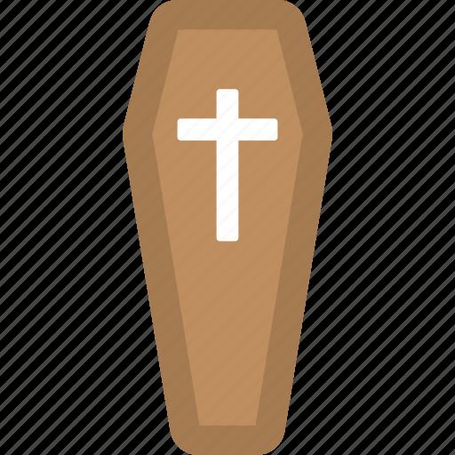 burial, casket, coffin, death, funerary box icon