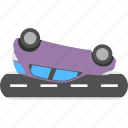 car accident, car crashes, car turning over, road accident, traffic collision icon
