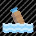 bottle, disaster, drowning, emergency, flood, rain