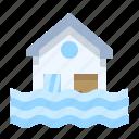 disaster, drowning, emergency, flood, home, rain