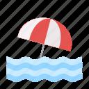 disaster, drowning, emergency, flood, rain, umbrella