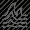 ocean, tsunami, wave icon