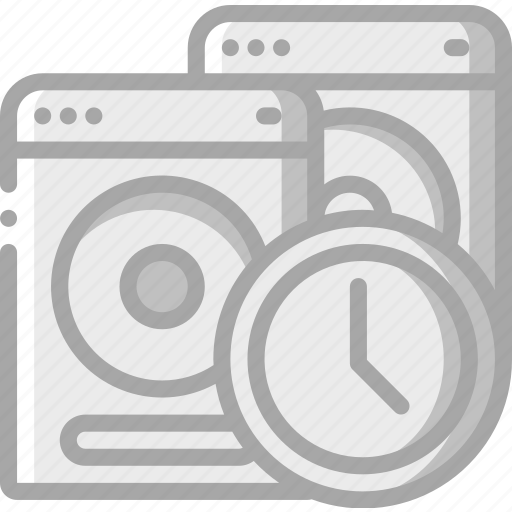 back, backup, data, disaster, recovery, scheduled, up icon