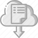 backup, cloud, data, disaster, download, recovery icon