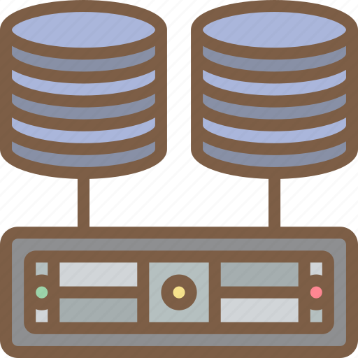backup, data, databases, disaster, multiple, recovery icon