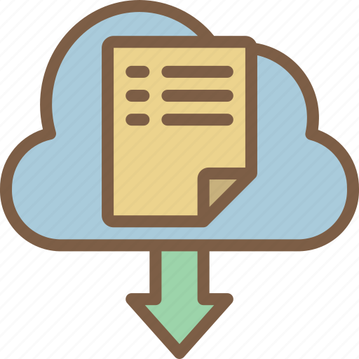 backup, cloud, data, disaster, download, from, recovery icon