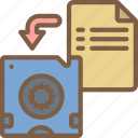 backup, data, disaster, file, recovery, resteor, tape icon