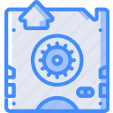 disaster, data, back, tape, backup, recovery icon